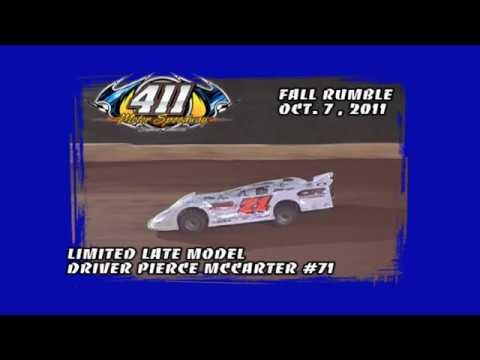 A LOOK BACK:  411 Motor Speedway Pierce McCarter #71 In Car Camera Oct 7, 2011