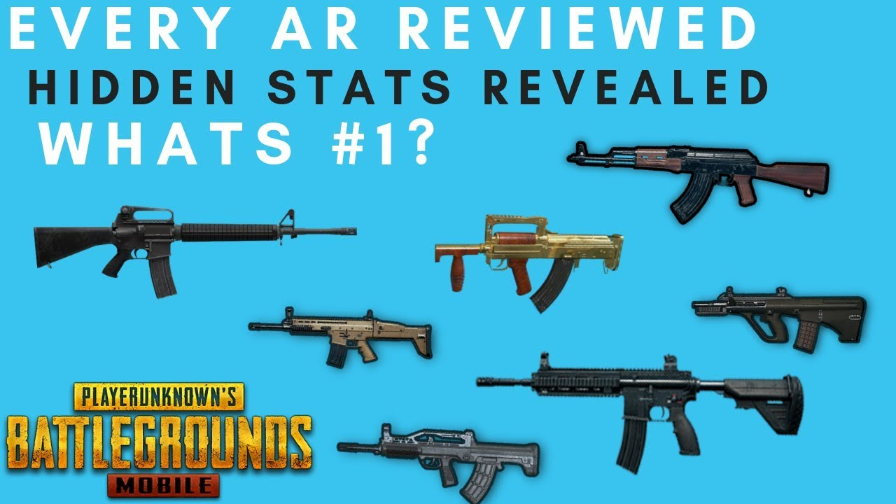 PUBG MOBILE AR GUIDE! EVERY GUN RATED - HIDDEN DAMAGE NUMBERS!