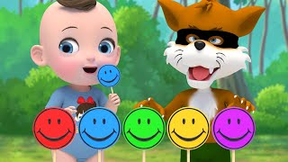 Color Finger Family Lollipop Candy English Song Kids Nursery Rhymes | Super Lime And Toys