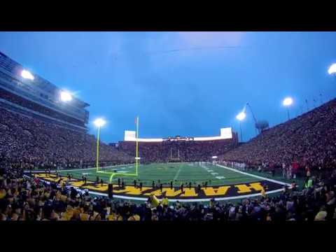 4K Iowa Vs Ohio State cell phone light show @ Kinnick Stadium