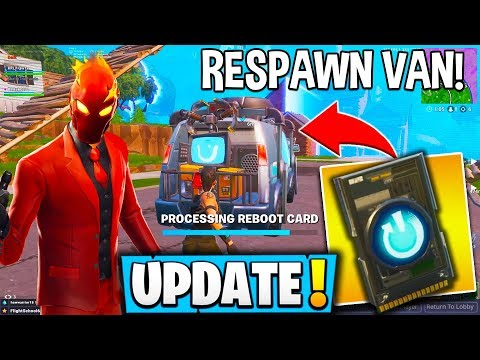 "*NEW* FORTNITE UPDATE! ""Reboot Van"" *NEW* Stretched RES + Free Skins & Emotes! - Fortnite Moments thumbnail"