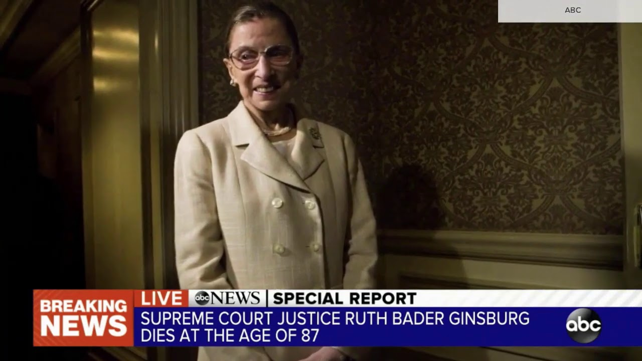 ABC News special report open: Death of Ruth Bader Ginsburg