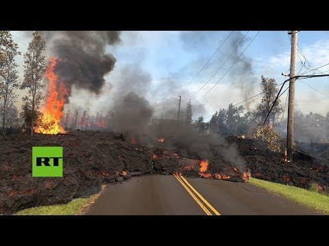 La aterradora pero hipnótica erupción del volcán Kilauea en Hawái