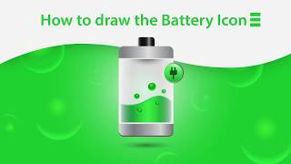 How to draw the Battery Icon|Adobe Illustrator Tutorial