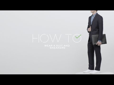 How To Wear A Suit & Sneakers