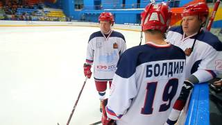 Благотворительный матч с участием  Легенд хоккея