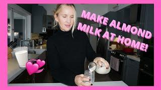 Homemade Almond Milk Recipe | Monika Blunder