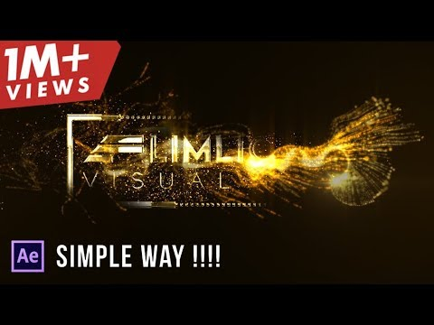 After Effects Tutorial: Particles Text Effects (simple Way!!!!)