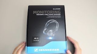 Sennheiser HD 25 - On Ear DJ Headphones: Unboxing
