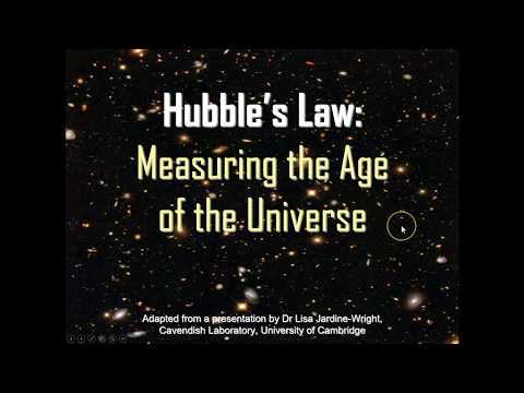 Hubble's Law: measuring the age of the universe