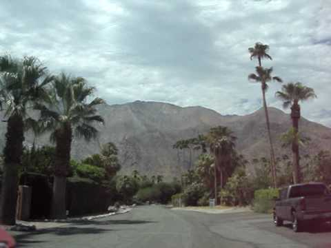 DARLING PRESLEY drives to ELVIS and PRISCILLA PRESLEY's PALM SPRINGS HOME LADERA CIRCLE - again!