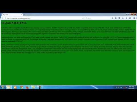 Belajar Mudah Html Bagian 5 Mengganti Warna Background
