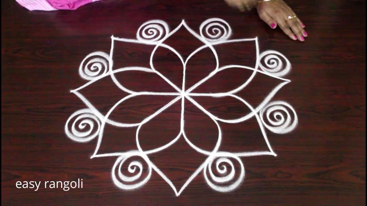 festival rangoli & kolam designs for Diwali 2018 || Deepavali muggulu