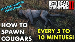 How To Spawn Cougars Every 5 to 10 Minutes !!! - Red Dead Redemption 2 (Master Hunter Challenge)