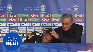 Neymar breaks down after manager Tite defends him after Brazil win - Daily Mail