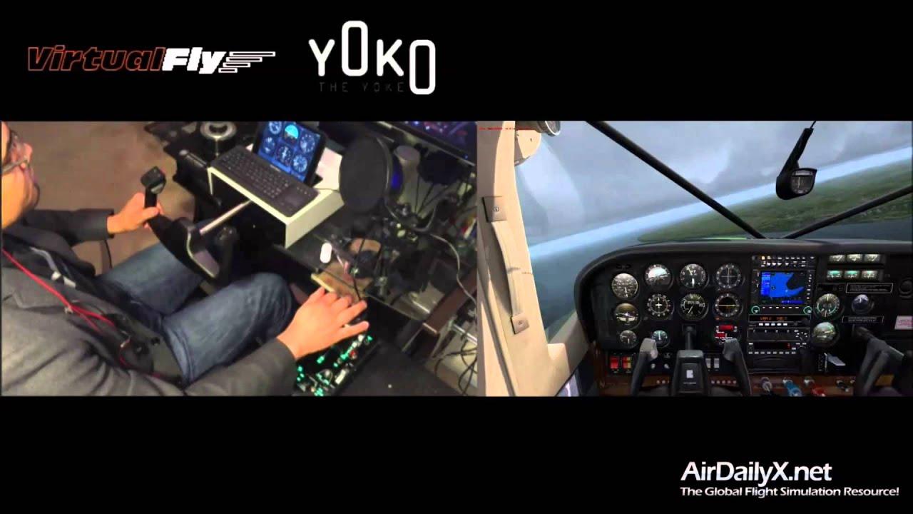 """Flight Sim Yoke – Yoko """"the Yoke"""""""
