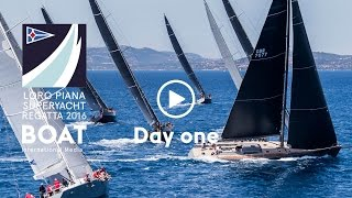 Race Day One at Loro Piana Superyacht Regatta 2016