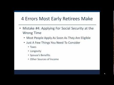 Early Retirement: 4 Costly Errors Most Early Retirees Make Mp3