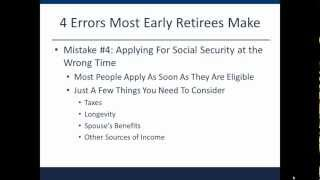 Early Retirement: 4 Costly Errors Most Early Retirees Make