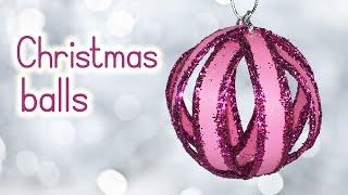 DIY Christmas crafts: CHRISTMAS BALLS recycling toilet paper rolls - Innova Crafts