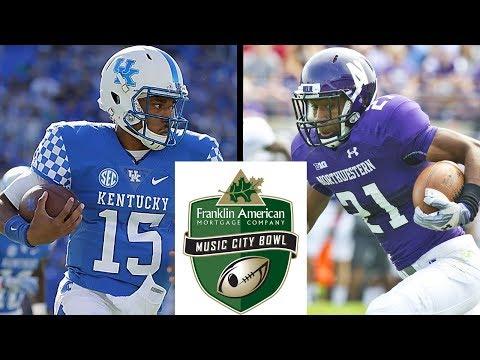 Kentucky vs Northwestern (Music City Bowl) 12-29-17 NCAA Football 18 Simulation