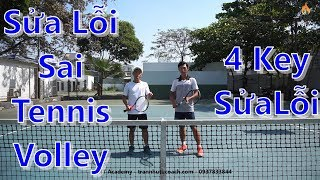 Nhận Biết Lỗi Sai - Tác Hại - Cách Sửa Lỗi Tennis Volley | 4 Key Sửa Lỗi Hiệu Quả Cho Bạn
