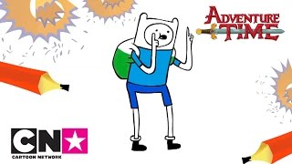 How to Draw Finn | Adventure Time | Cartoon Network