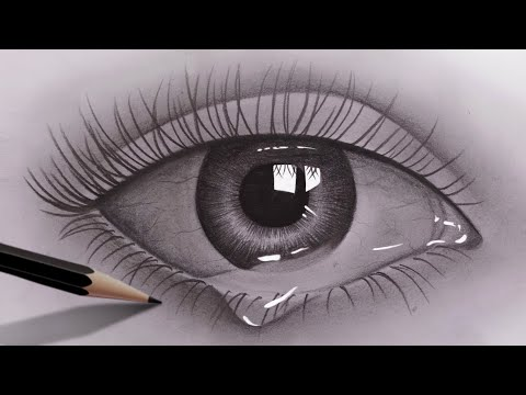 How to draw realistic eyes for beginners with pencil | Pencil Sketch Video | Easy to draw