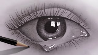 pencil eyes realistic easy draw beginners drawing sketch drawings eye sketches sketching