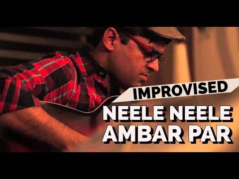 Neele Neele Ambar Par Guitar Instrumental Kapil Guitarist | Cover | Lesson | Tabs | Chords Kalakaar