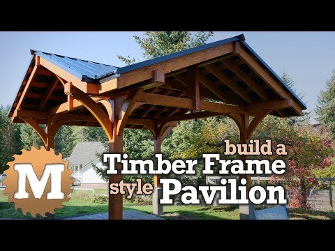 Timber Frame Style Pavilion Gazebo for Backyard or Patio - post and beam
