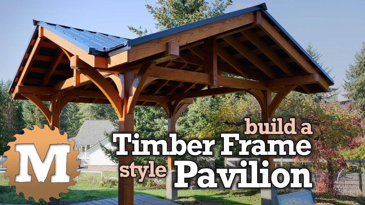 timber frame style pavilion gazebo for backyard or patio post and beam