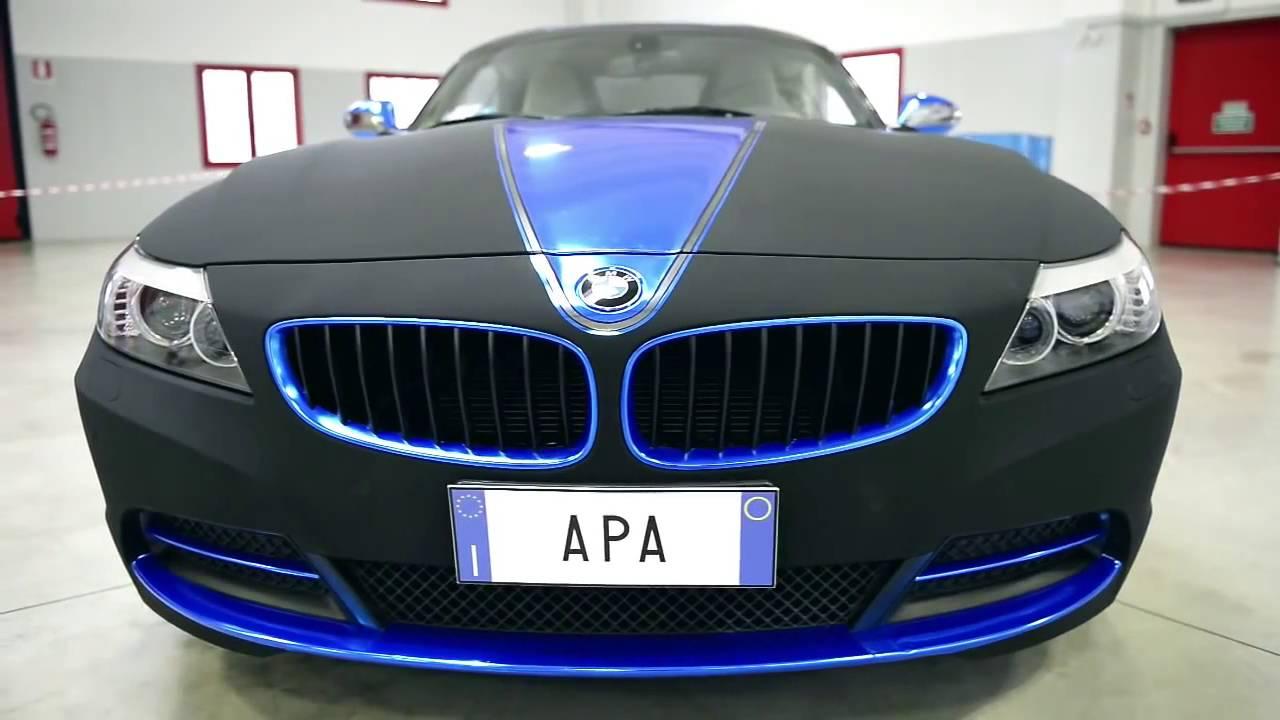 Car Wrap Bmw Z4 Ultramatte Black Apa America Youtube