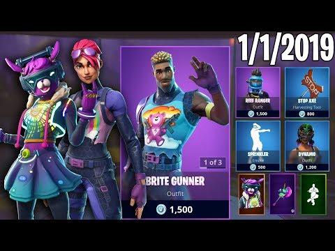 BRITE BOMBER PART 100: January 1st New Skins - Daily Fortnite Item Shop