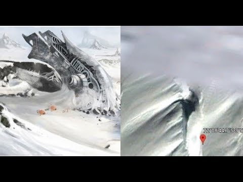 Huge cylindrical extraterrestrial ship found crashed in Antarctica