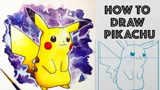How to draw Pikachu from Pokemon (simple)