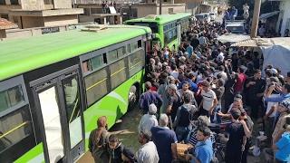 أخبار عربية - بدء المرحلة الخامسة من تهجير سكان #حي_الوعر في #حمص