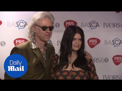 Sir Bob Geldof and Pixie arrive at the Ivor Novello Awards - Daily Mail