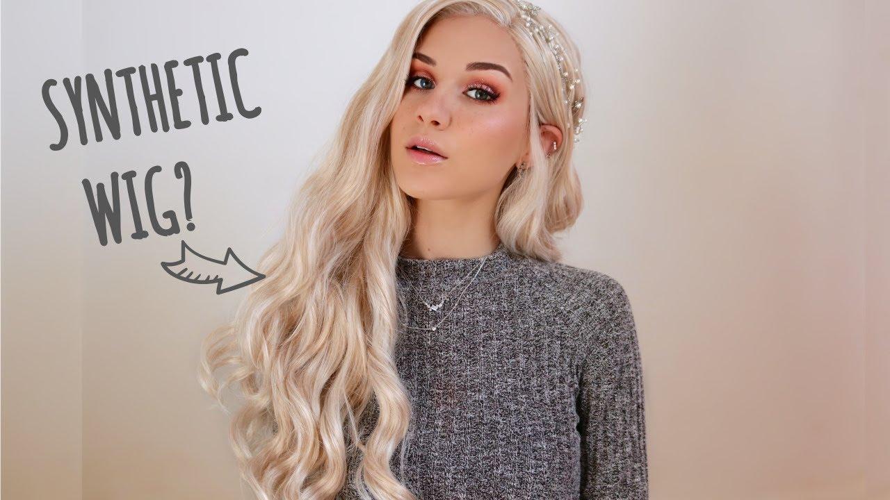 How I Style Wear My Synthetic Wigs W Feshfen Wigs Youtube