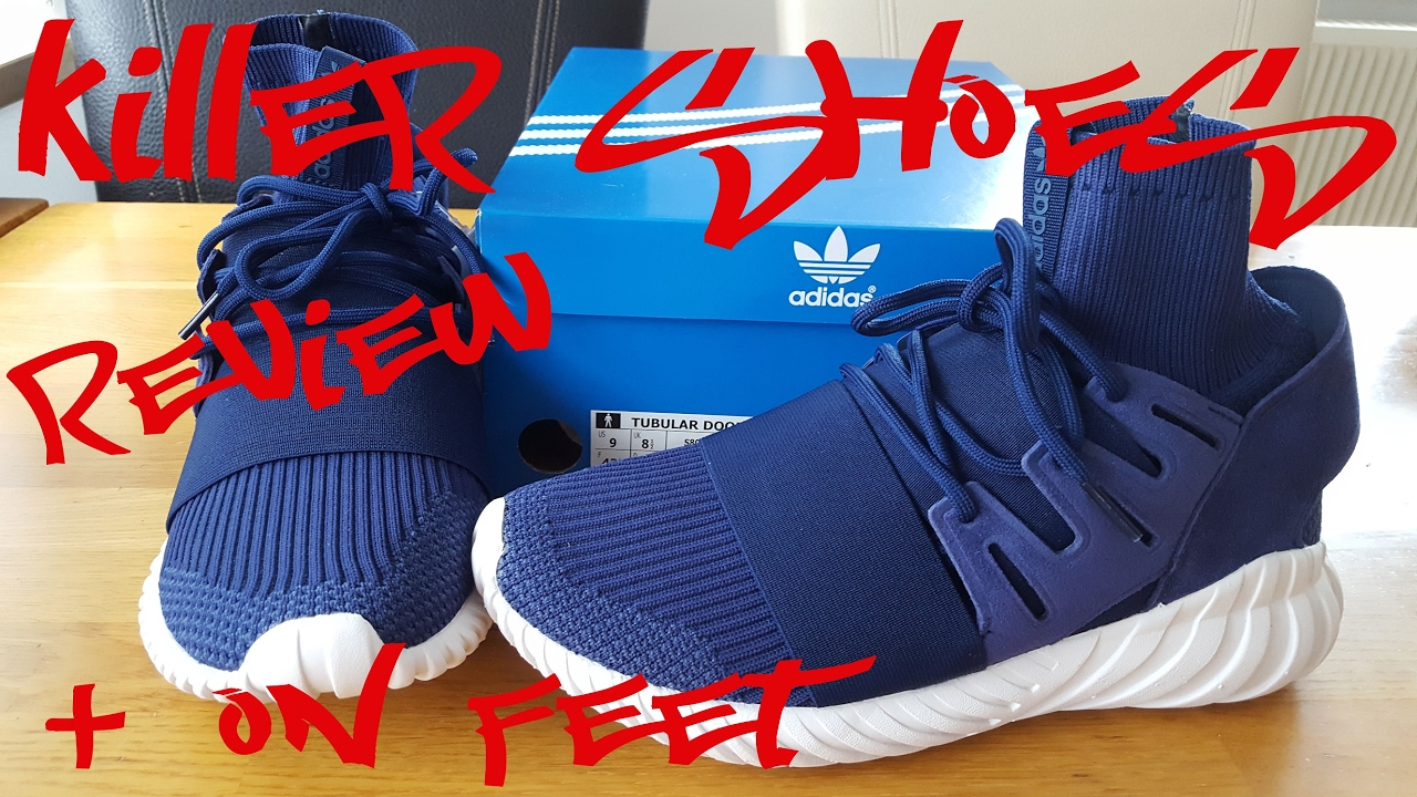 7386ab321d15 Adidas Tubular Doom Primeknit blue Sneaker Review + On feet by Killer Shoes