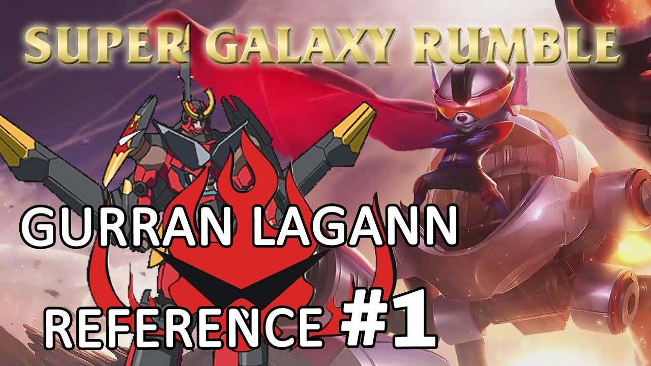 Gurren Lagann Quotes Wallpaper Super Galaxy Rumble Gurren Lagann Reference 1 League