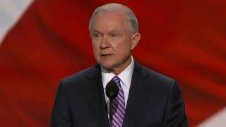 Senator Jeff Sessions addresses the GOP Convention