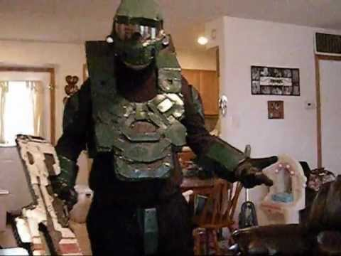 my halloween halo 4 mark 6 armor costume with battle rifle