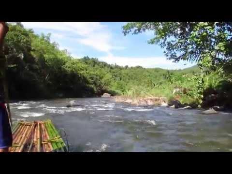 Bamboo rafting in Meratus Mountains, Kalimantan Indonesia (2014)
