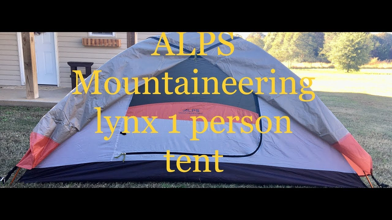 Alps Mountaineering Lynx 1 review & Alps Mountaineering Lynx 1 review - YouTube