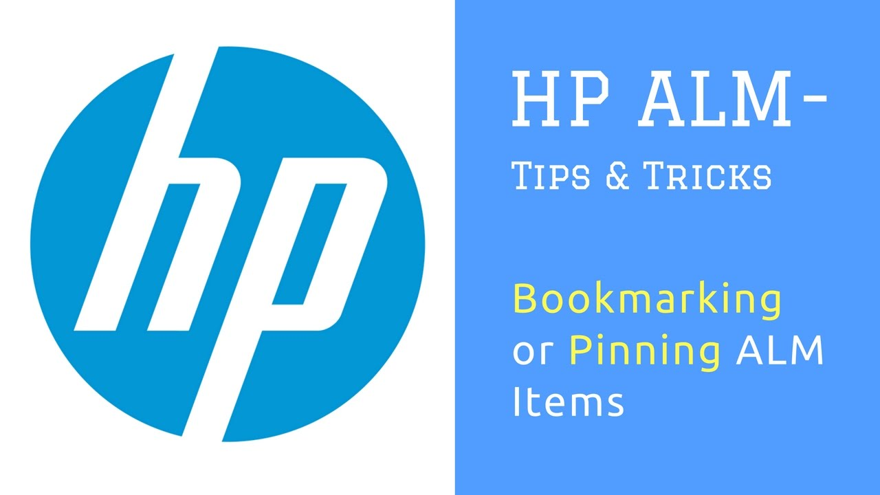 HP ALM (Quality Center) : Tips and Tricks : Bookmarking or Pinning ALM  Items (tests, defects etc )