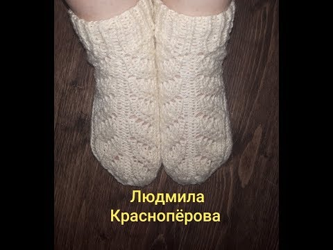 Экспресс МК: ажурные носки/ как вяжу, как закрываю петли/ отвечаю на вопрос Ольги про спицы