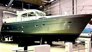 Обзор яхты Elling E4 ниже ватерлинии. Выставка  boot Dusseldorf 2019.
