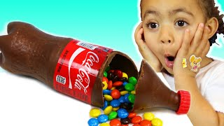 Leah and Anwar Chocolate & Soda Challenge for Mom