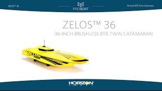 Load Video 1:  Pro Boat Zelos™ 36 Twin Catamaran BL RTR